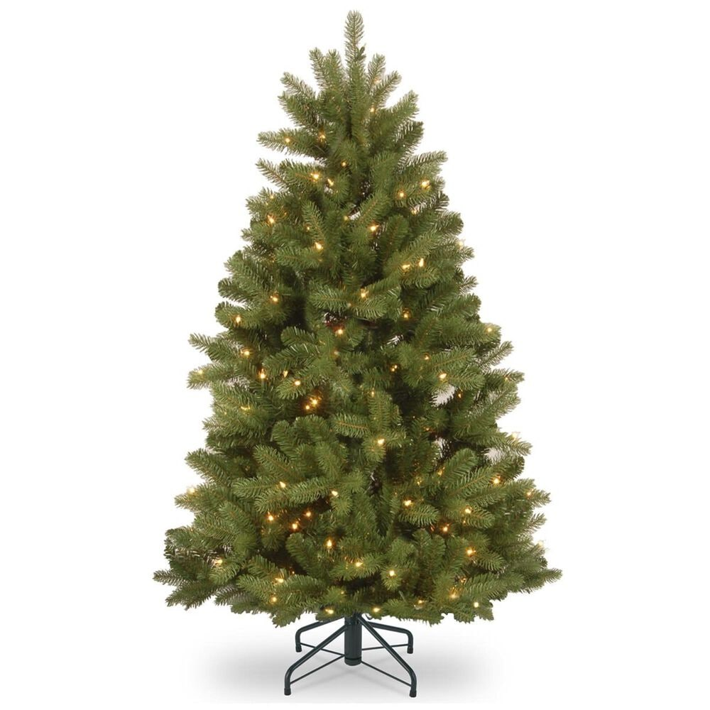 """National Tree 5"""" Feel Real Newberry Spruce Hinged Tree with 500 White Lights, , large"""