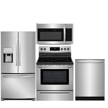 """Frigidaire 4-Piece Kitchen 26.8 Cu. Ft. French Door Refrigerator and 30"""" Electric Range in Stainless Steel , , large"""