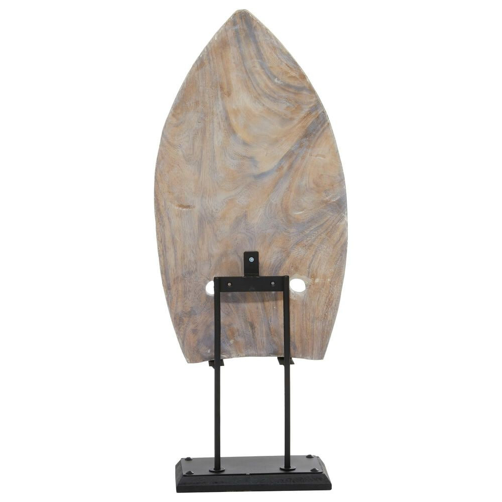 """Maple and Jade 11"""" x  27"""" Vintage Wood Sculpture in White, , large"""