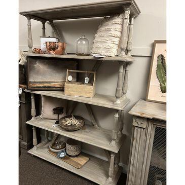 Santa Fe Rustic Pedestal Bookshelf, , large