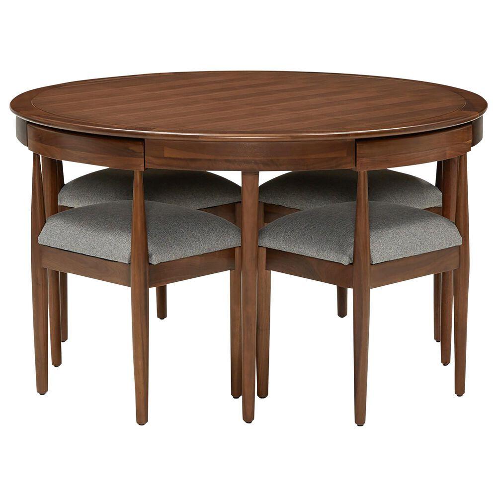 Joybird Toscano Dining Set with Taylor Felt Grey Cushion in Walnut, , large