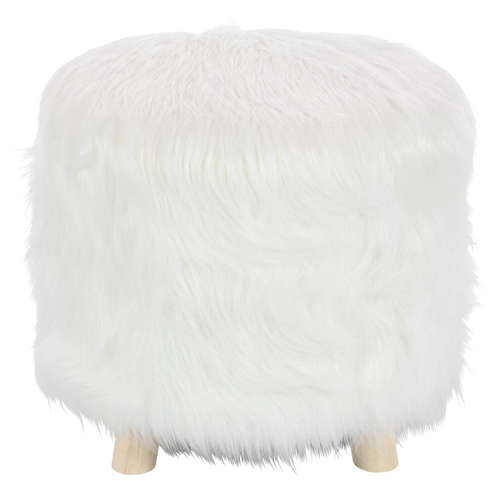 """Maple and Jade 16"""" x 19"""" Stool in White, , large"""