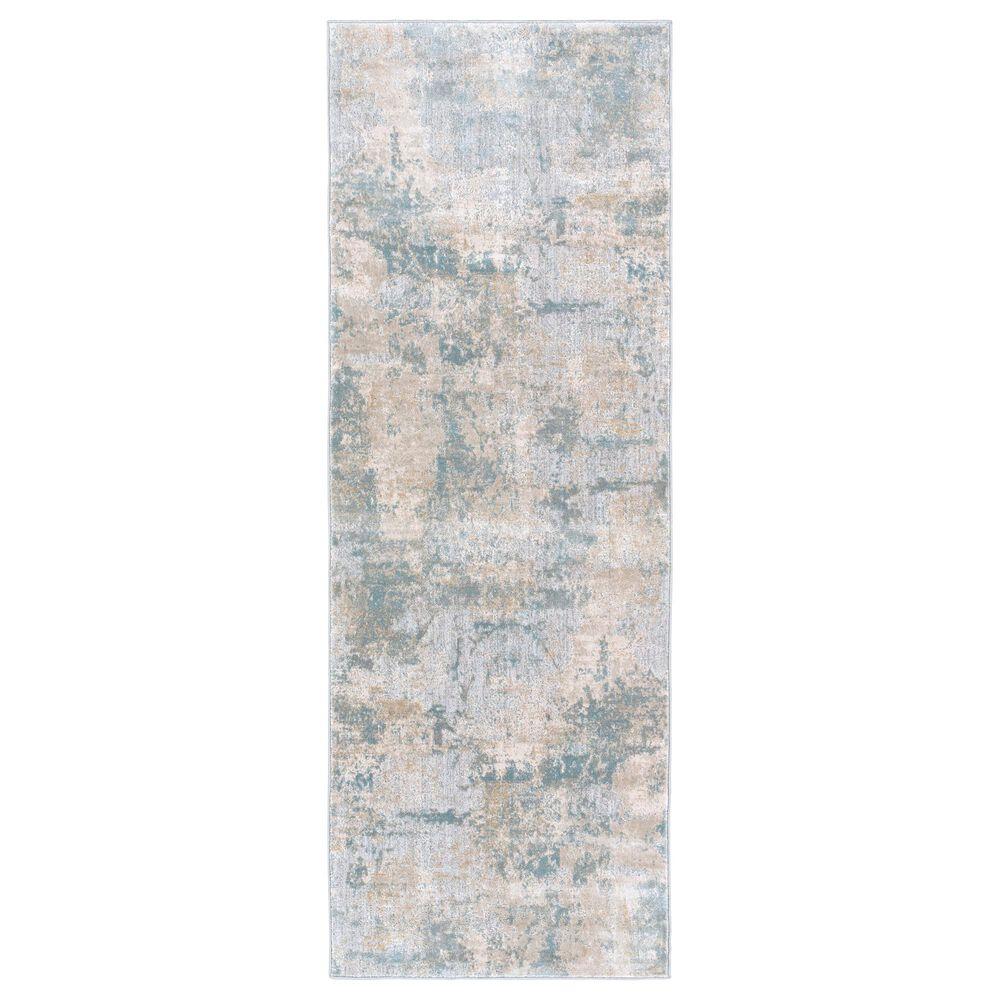 "Surya Brunswick 2'7"" x 10' Sage, Gray, White and Blue Runner, , large"
