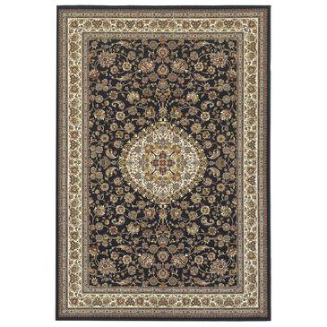 "Oriental Weavers Masterpiece 033B 9""10"" x 12""10"" Black and Ivory Area Rug, , large"