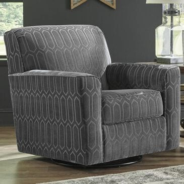 Signature Design by Ashley Zarina Swivel Accent Chair in Graphite, , large