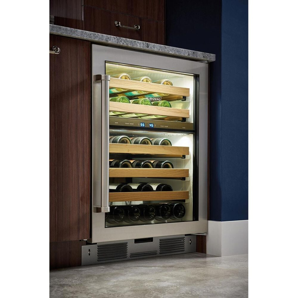 "Sub Zero 24"" Right Hinge Undercounter Wine Storage with Panel Ready Door, , large"