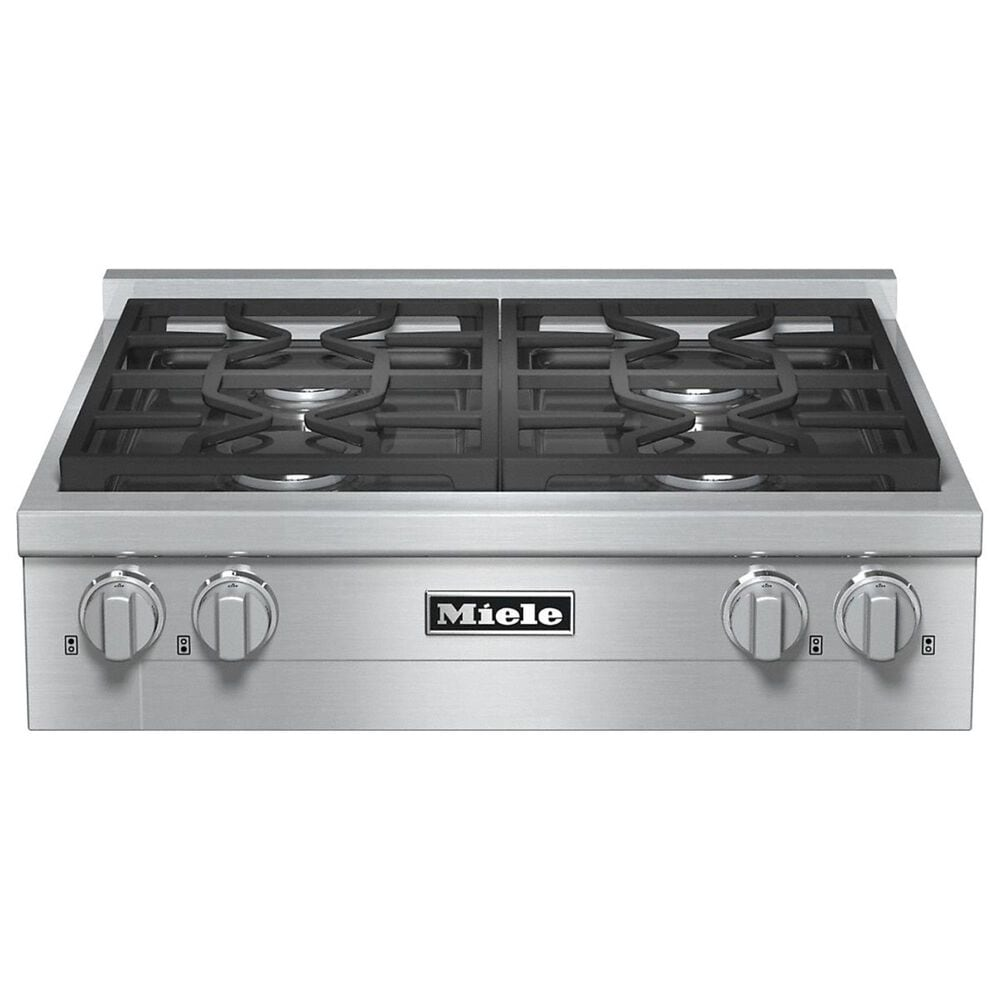 """Miele 30"""" Natural Gas Rangetop in Stainless Steel, , large"""