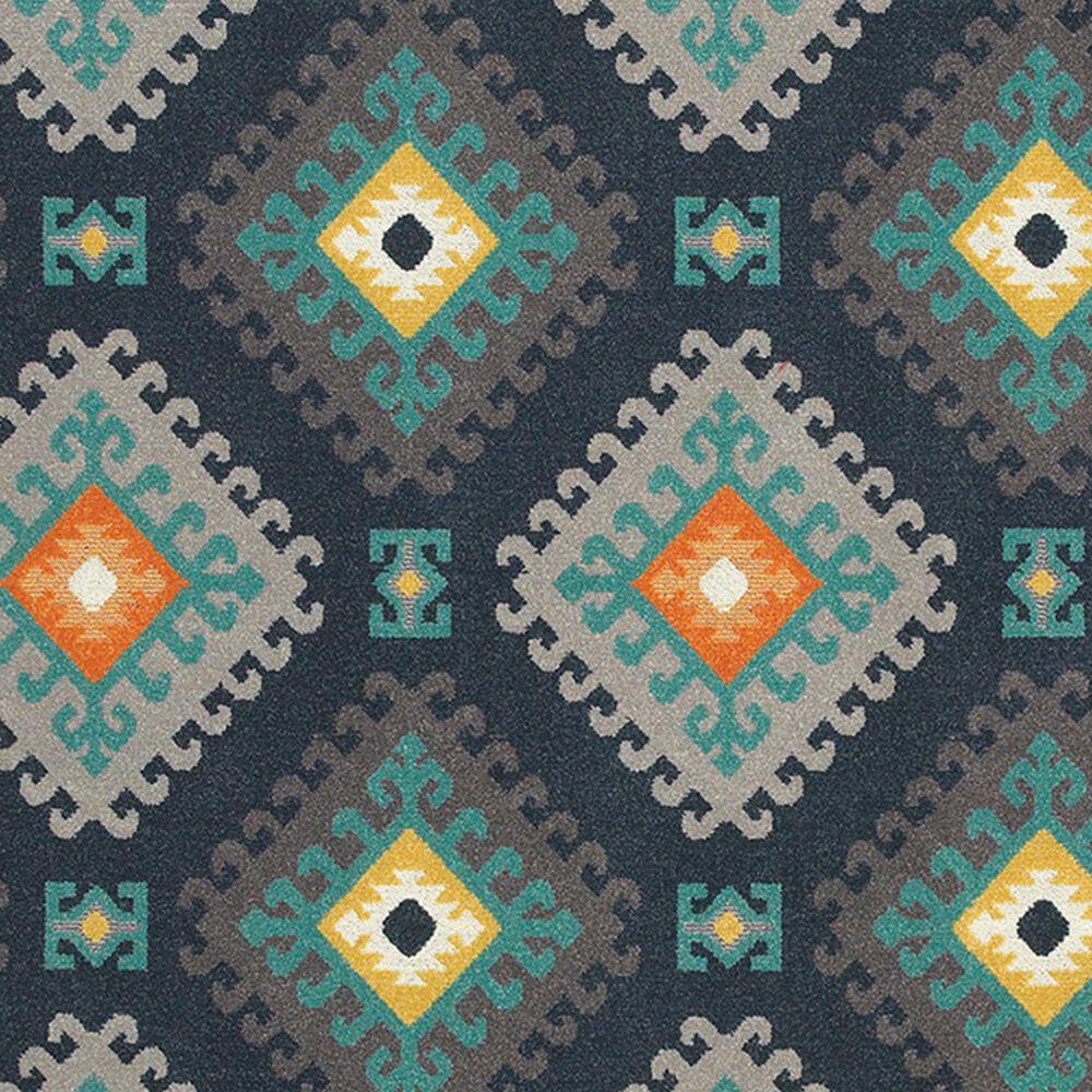"Oriental Weavers Hampton 4929B 9'10"" x 12'10"" Navy and Grey Area Rug, , large"