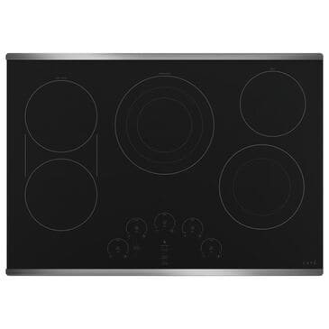 """Cafe 30"""" Built-In Touch Control Electric Cooktop in Black and Stainless Steel, , large"""