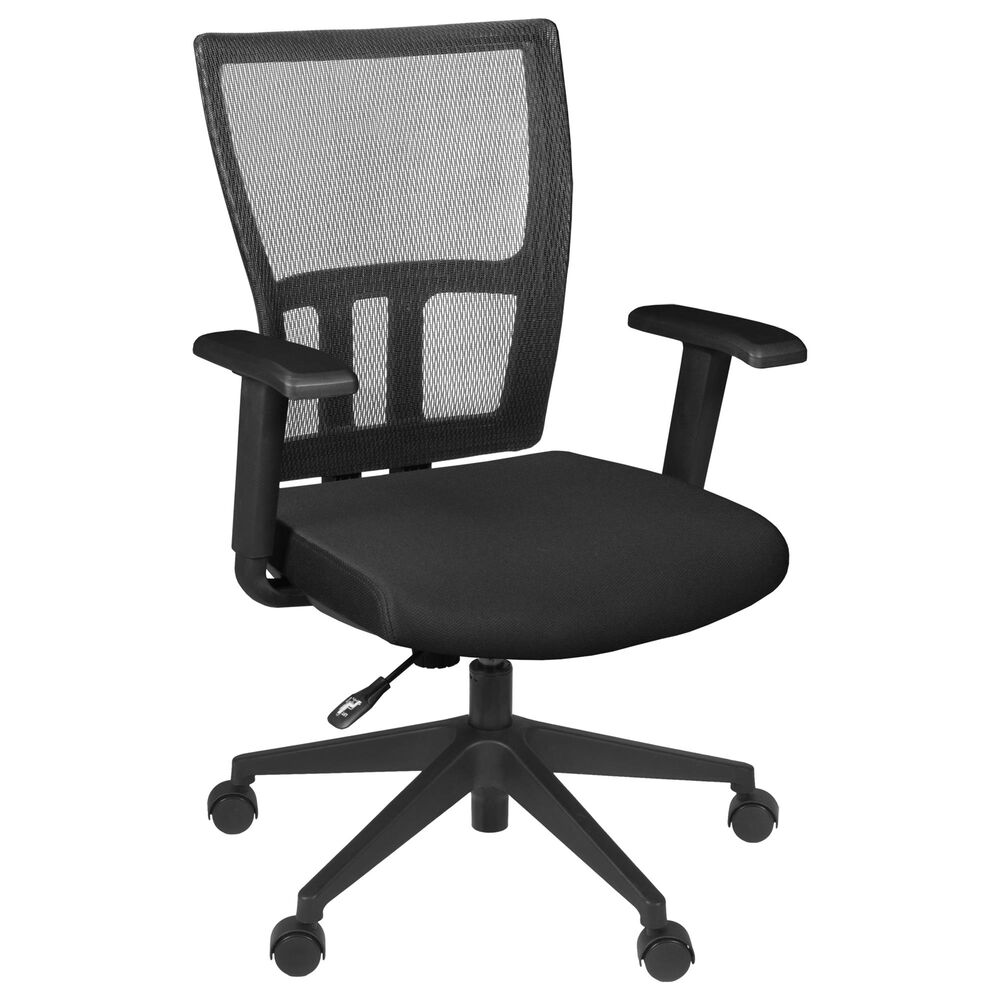 Regency Global Sourcing Ayla Swivel Chair in Black, , large