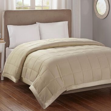 Hampton Park Cambria Full/Queen Down Alternative Blanket in Taupe, , large