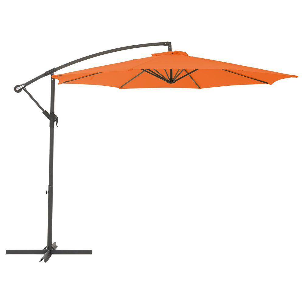 CorLiving 9.5' UV Resistant Patio Umbrella in Orange, , large