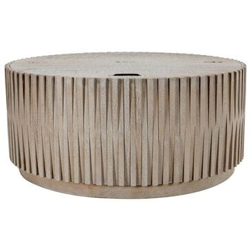 Classic Concepts Mrytle Round Lift-Top Coffee Table in Mango Wood, , large