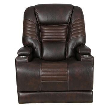 Motion Magic Power Recliner with Power Headrest in Picasso Walnut, , large