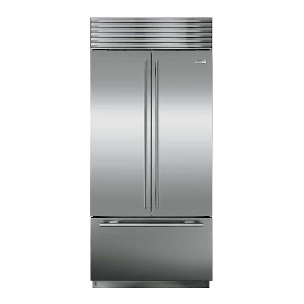 """Sub Zero 36"""" Built-in French Door Refrigerator with Tubular Handles in Stainless Steel, , large"""