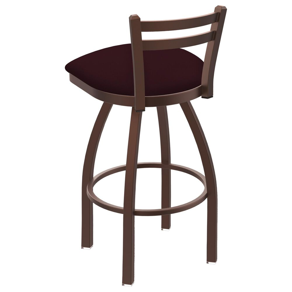 """Holland Bar Stool 411 Jackie 25"""" Low Back Swivel Counter Stool with Bronze and Canter Bordeaux Seat, , large"""