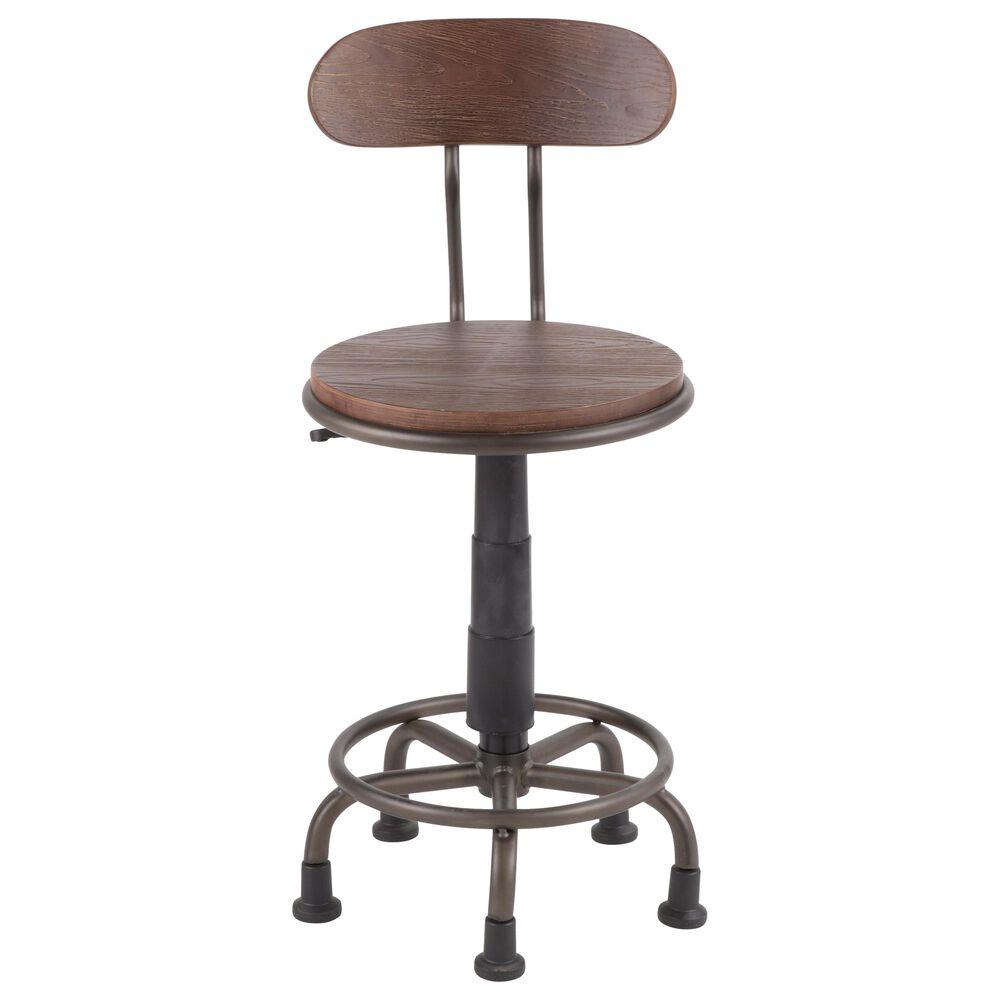 Lumisource Dakota Task Chair in Espresso/Antique, , large
