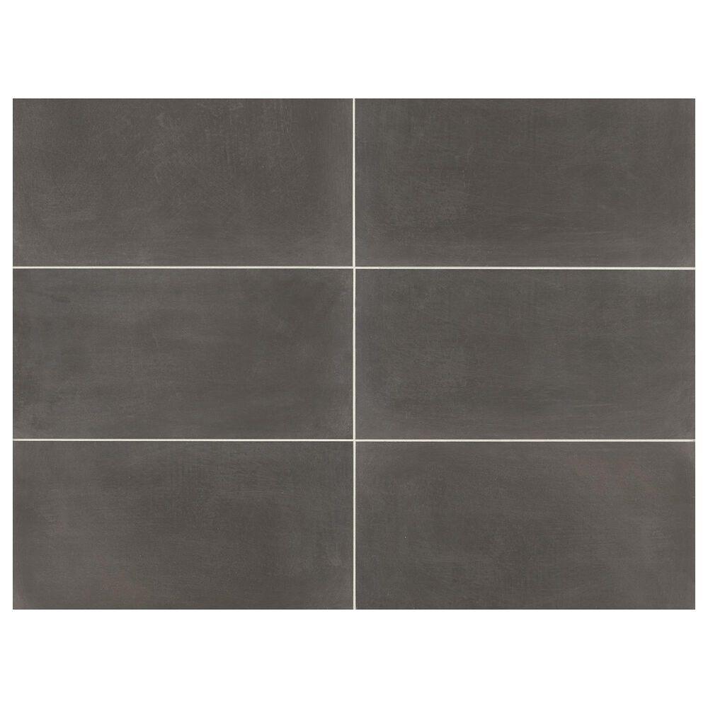 """Marazzi Moroccan Concrete Charcoal 12"""" x 24"""" Porcelain Tile, , large"""