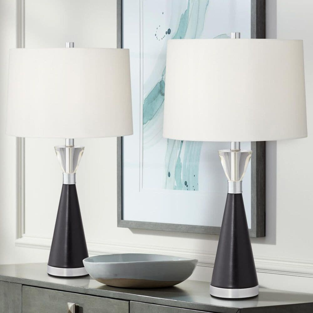 Pacific Coast Lighting Ella Table Lamp in Black (Set of 2), , large