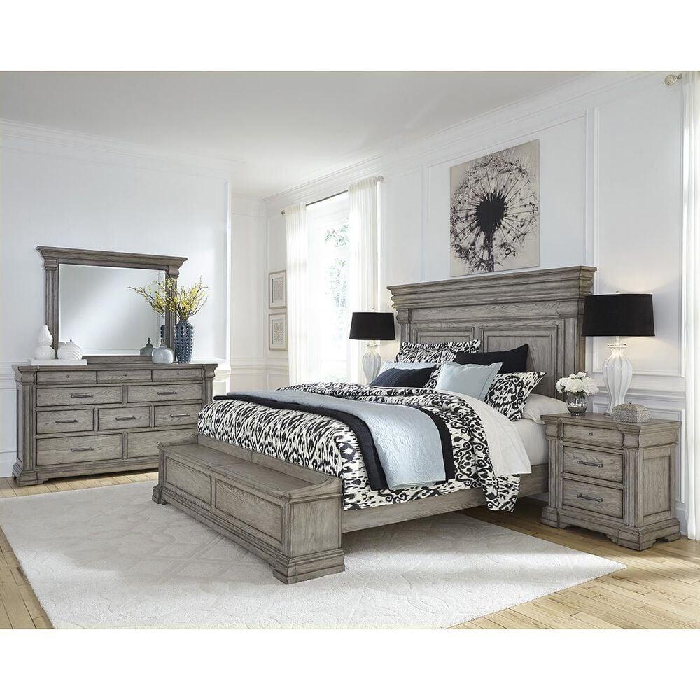 Chapel Hill Madison Ridge California King Storage Bed in Bluff Gray, , large