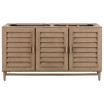 "James Martin Portland 60"" Double Vanity Cabinet in White Washed Walnut, , large"