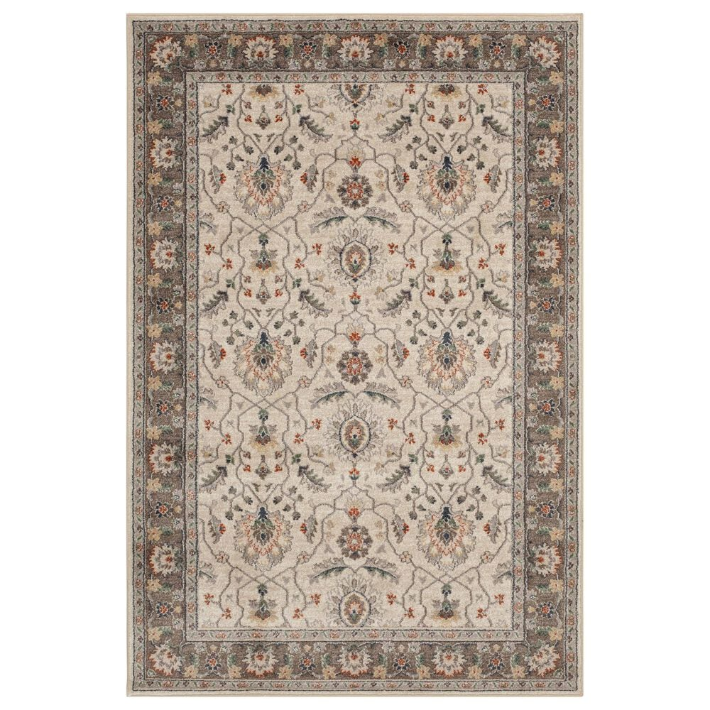 Central Oriental Minerva Alanso 7201ALS 8' x 10' Alabaster and Storm Area Rug, , large