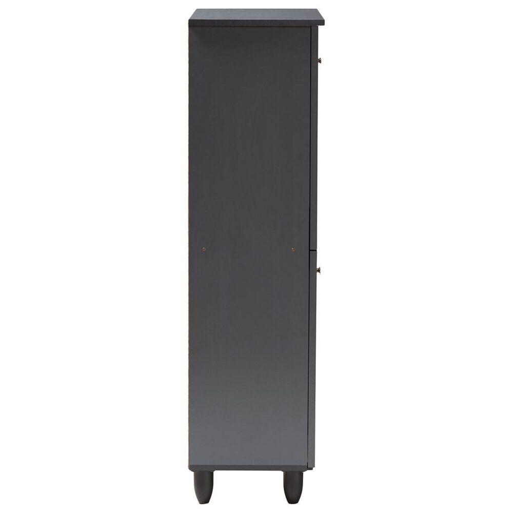Baxton Studio Fernanda 4-Door Entryway Shoe Storage Cabinet in Dark Gray, , large
