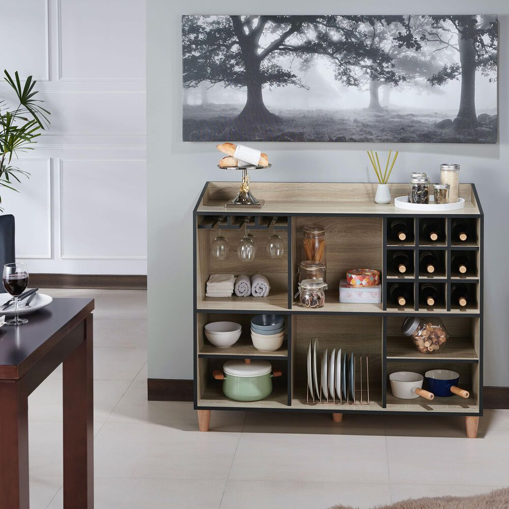 Furniture of America Combs Buffet Server in Natural Oak, , large
