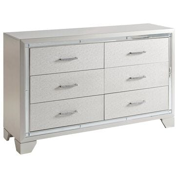 Signature Design by Ashley Lonnix 6 Drawer Dresser in Silver, , large