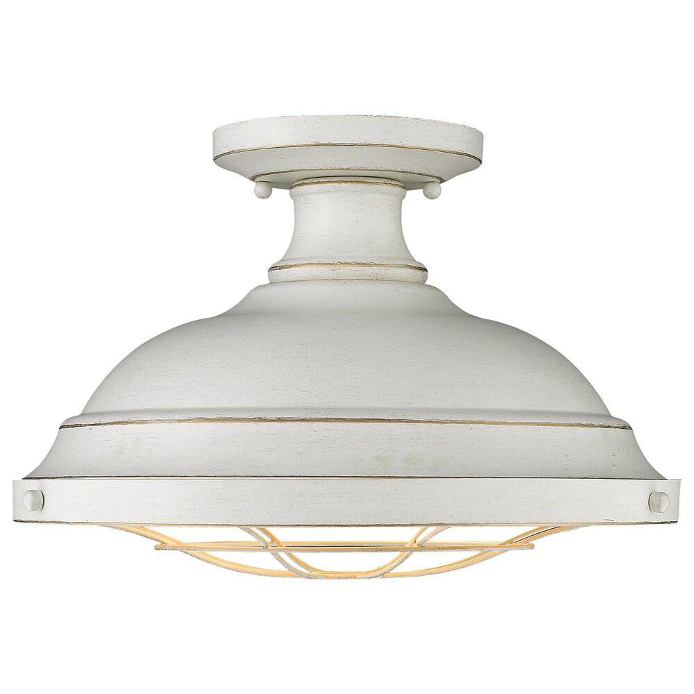 Golden Lighting Bartlett Semi-Flush in French White, , large