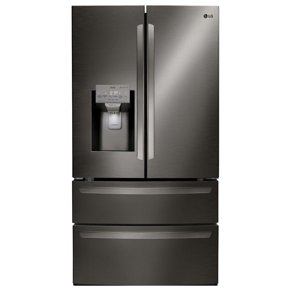 LG 28 Cu. Ft. Capacity 4-Door French Door Refrigerator in Black Stainless Steel , , large