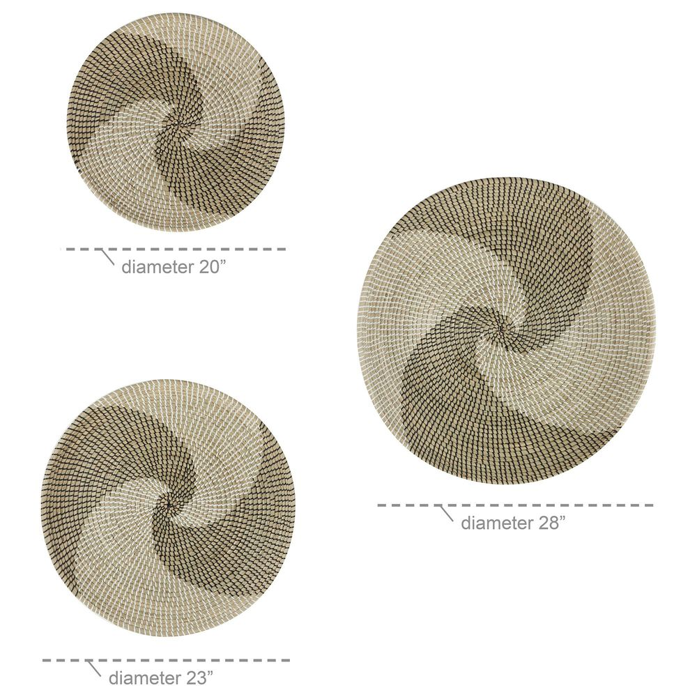 Maple and Jade Contemporary Dried Plant Material Wall Decor in Beige (Set of 3), , large