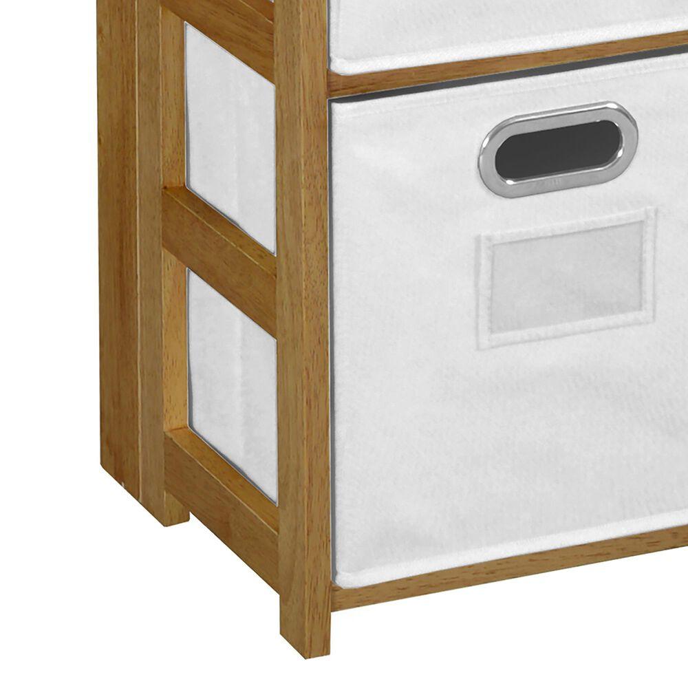 "Regency Global Sourcing Flip Flop 34"" Folding Bookcase with Bins in Medium Oak/White, , large"