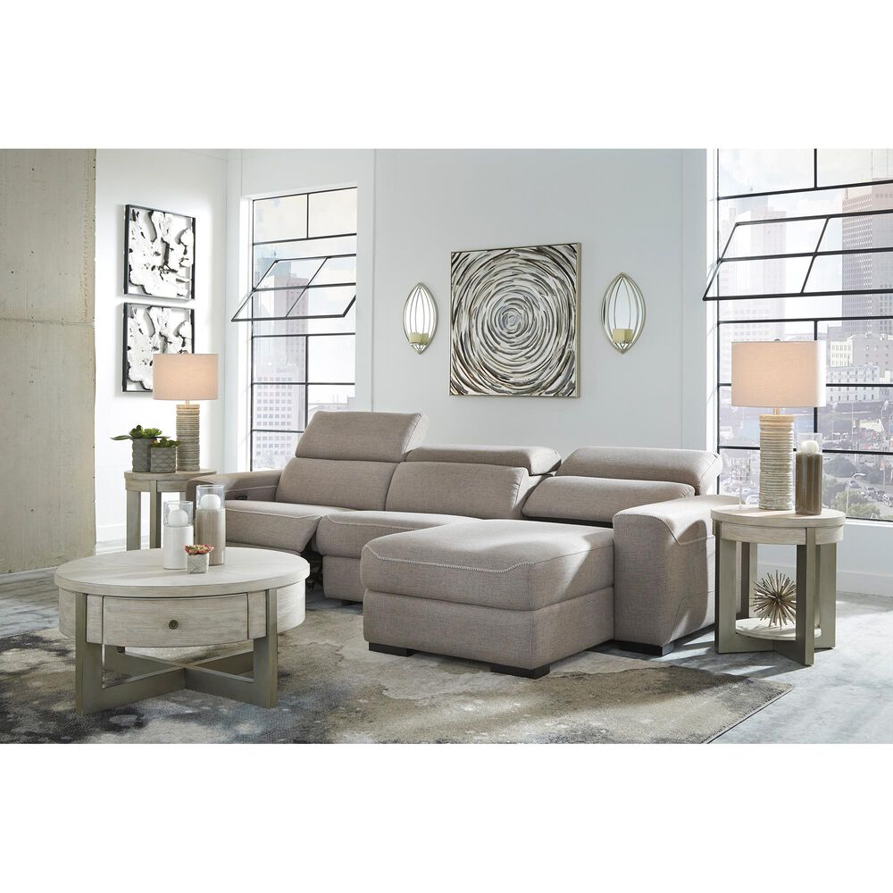 Signature Design by Ashley Mabton 3-Piece Power Reclining Sectional in Gray, , large
