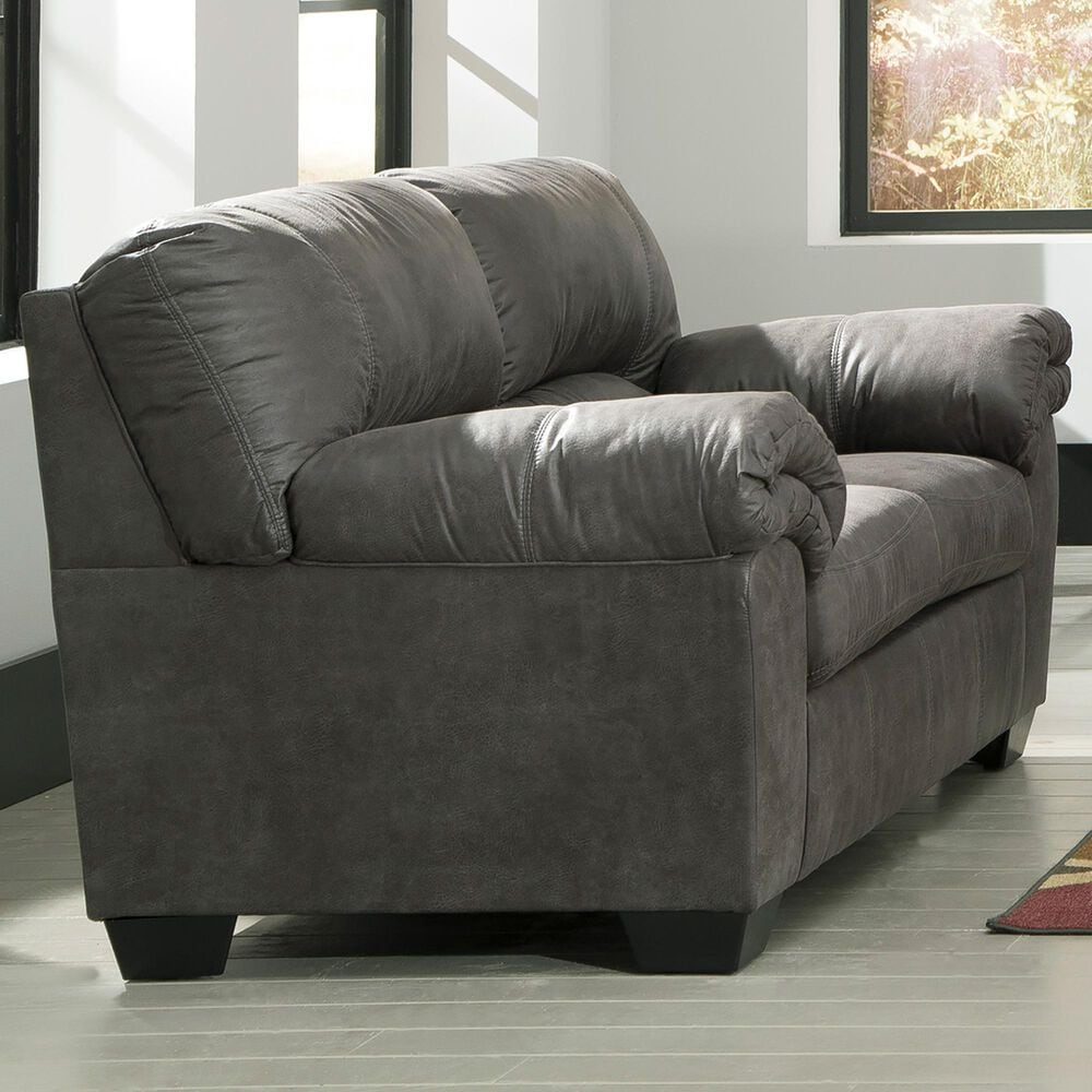 Signature Design by Ashley Bladen Loveseat in Slate, , large