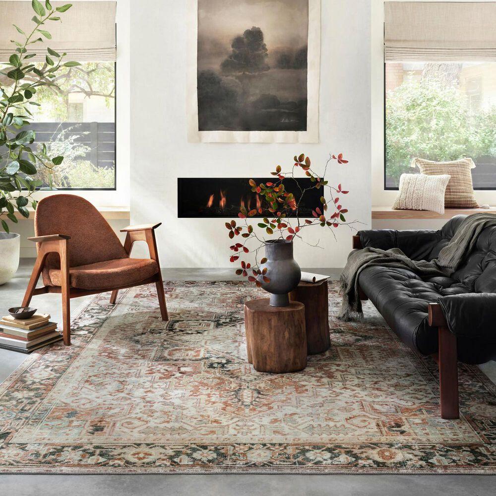 """Magnolia Home Lenna LEA-03 3'6"""" x 5'6"""" Rust and Charcoal Area Rug, , large"""