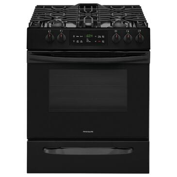 """Frigidaire 30"""""""" Front Control Freestanding Gas Range in Black, , large"""