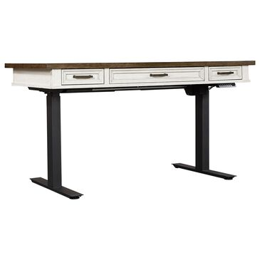 "Riva Ridge Caraway 60"" Lift Desk Top and Base in Aged Ivory, , large"