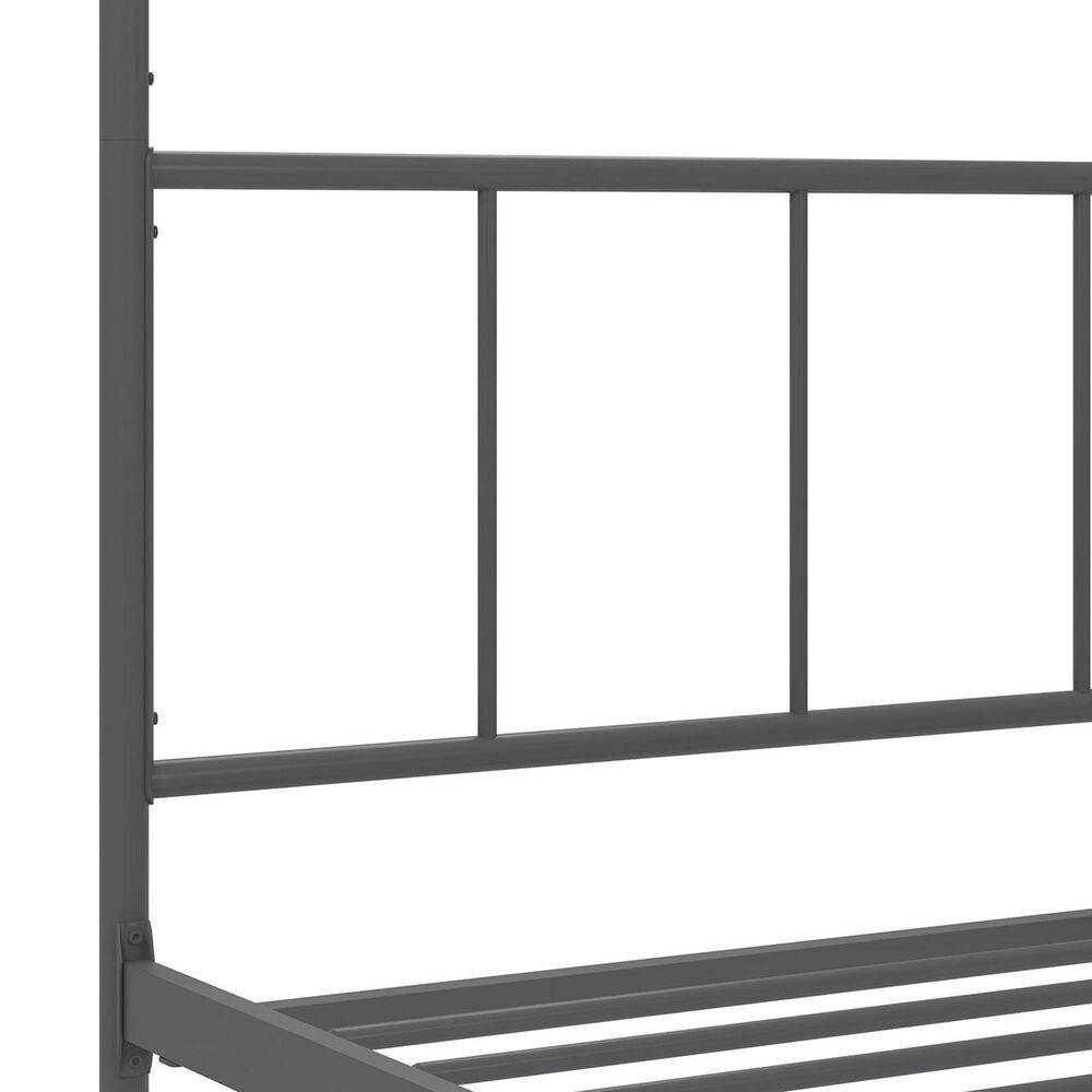 Novogratz Marion Full Canopy Bed in Dark Gray, , large