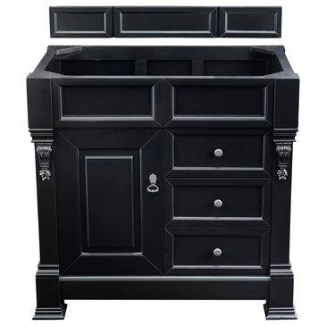 "James Martin Brookfield 36"" Single Vanity Cabinet in Antique Black, , large"
