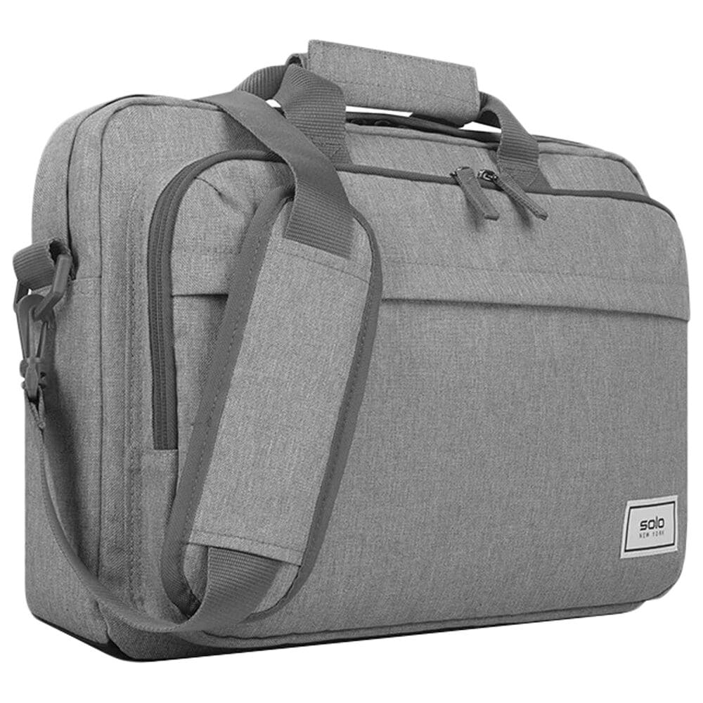 """Solo New Briefcase for 11"""" - 15.6"""" Laptop in Gray, , large"""