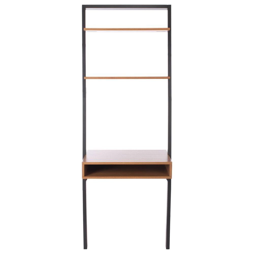 Safavieh Kamy 2-Shelf Leaning Desk in Natural/Charcoal, , large
