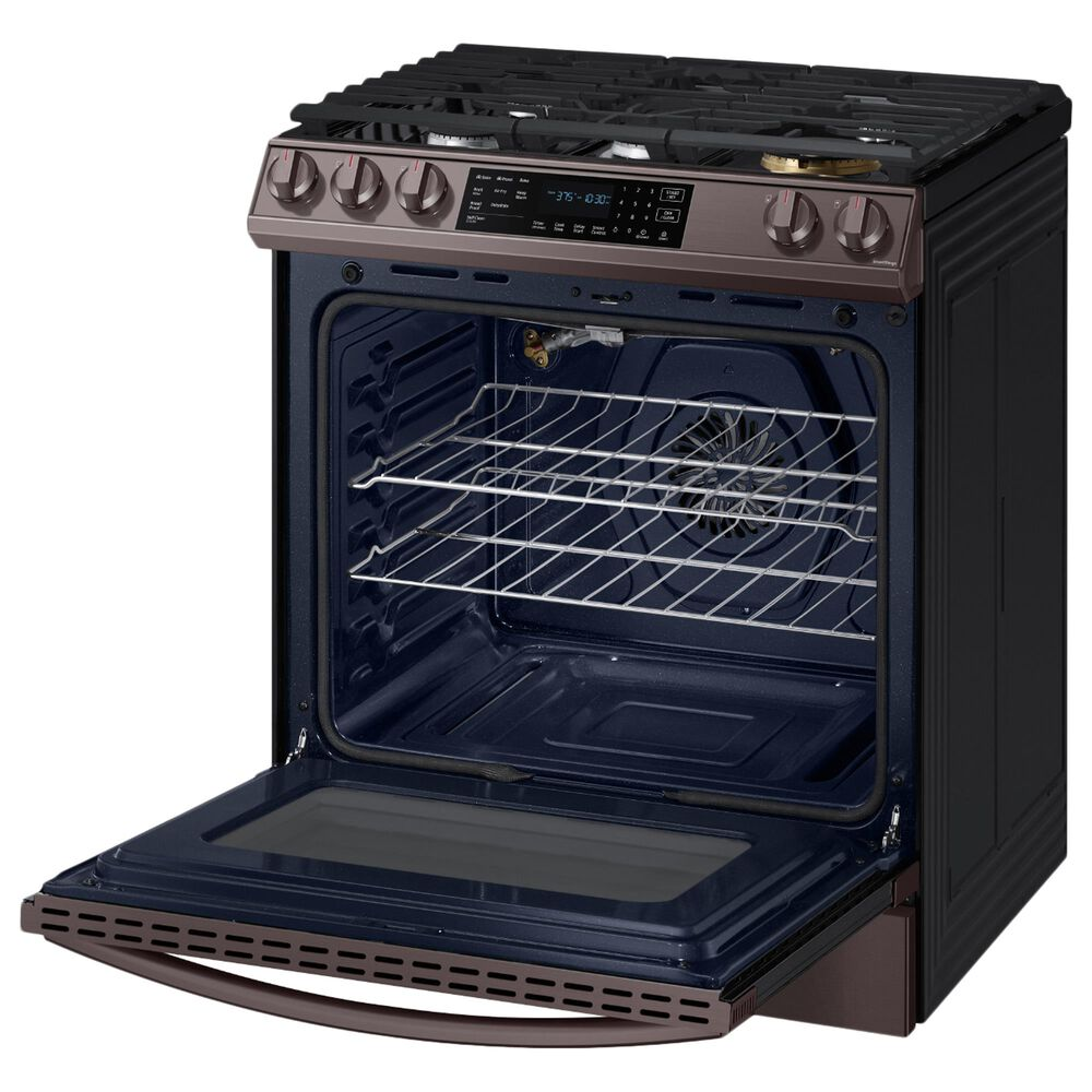 Samsung 6.0 Cu. Ft. Front Control Slide-in Gas Range with Air Fry and Wi-Fi in Tuscan Stainless Steel, , large