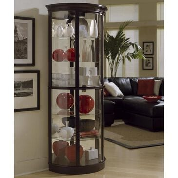 Chapel Hill Half Round Curio Cabinet in Chocolate Cherry, , large