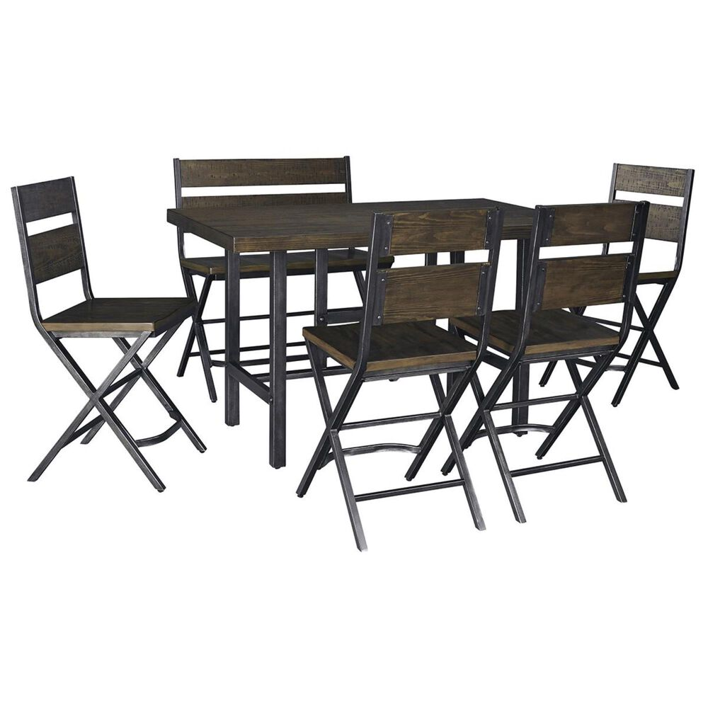 Signature Design by Ashley Kavara 6-Piece Dining Set in Medium Brown Wood, , large