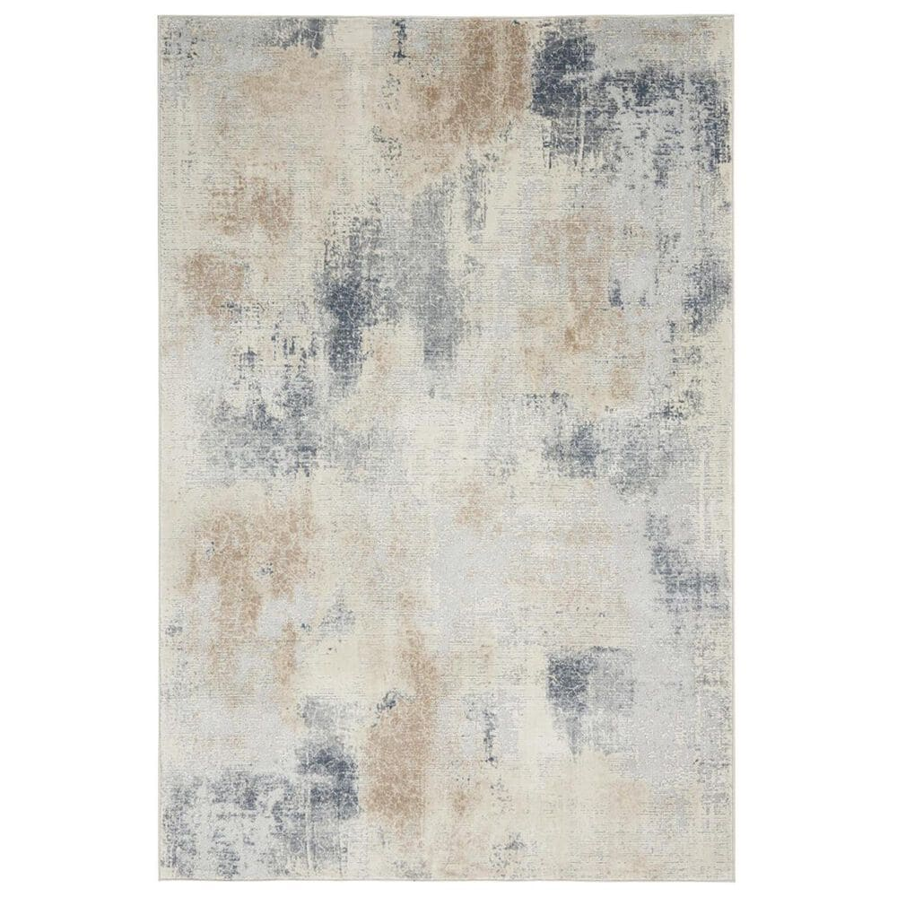 """Nourison Rustic Textures RUS02 2""""2"""" x 7""""6"""" Beige and Grey Runner, , large"""