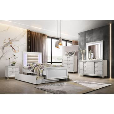 Mayberry Hill Twenty Nine 4 Piece Twin Bedroom Set with Trundle in White, , large