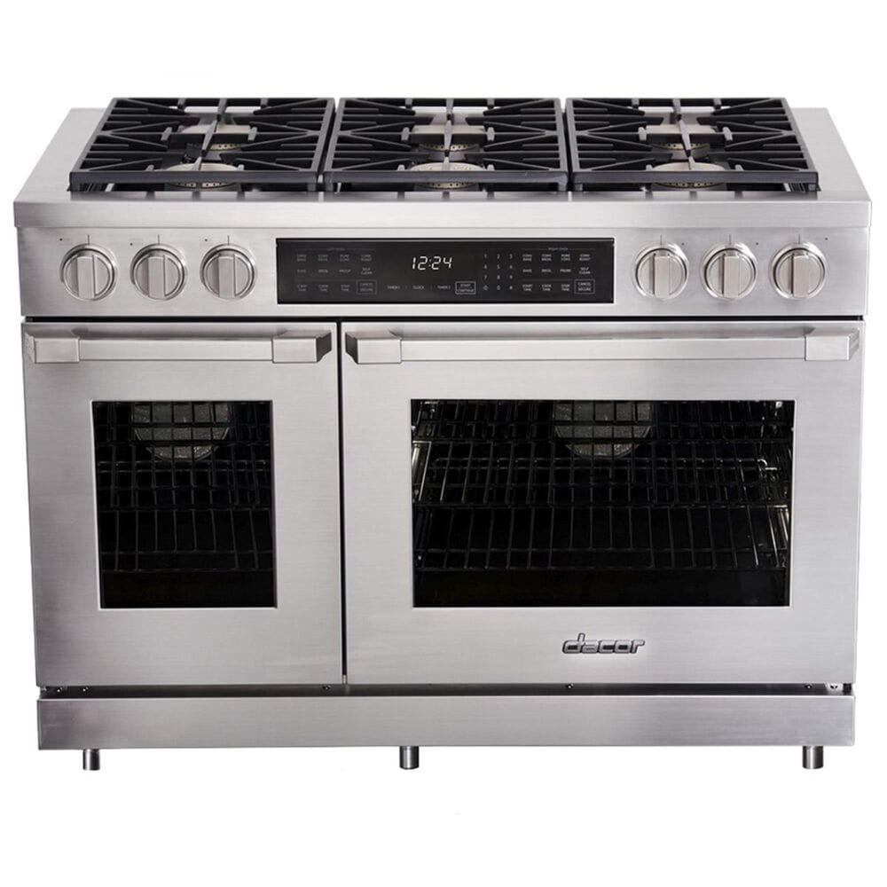 """Dacor Heritage 48"""" Natural Gas High Altitude Pro Dual Fuel Range in Stainless Steel, , large"""