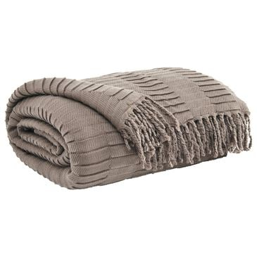 Signature Design by Ashley Mendez Throw in Taupe, , large