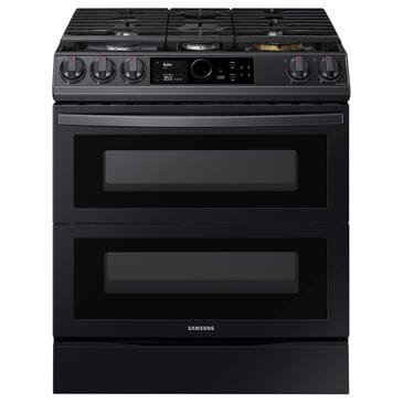 Samsung 6.3 Cu. Ft. Slide-In Dual Fuel Range with Smart Dial in Black Stainless Steel, , large